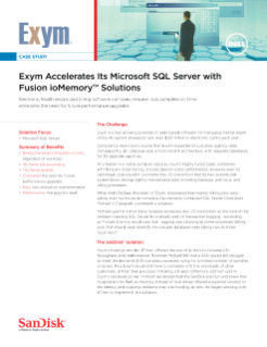 Exym Accelerates Its Microsoft SQL Server with Fusion ioMemory Solutions