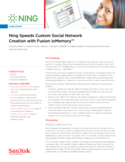 Ning Speeds Custom Social Network Creation with Fusion ioMemory Solutions