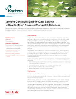 Kontera Continues Best-in-Class Service with a SanDisk Powered MongoDB Database