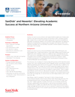 SanDisk and Nexenta®: Elevating Academic Success at Northern Arizona University
