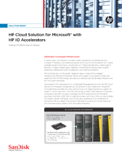 HP Cloud Solution for Microsoft® with HP IO Accelerators