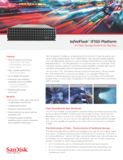 InfiniFlash IF150 Platform - All-Flash Storage Platform for Big Data