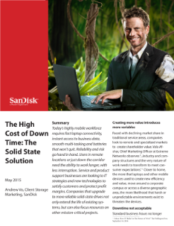The High Cost of Downtime